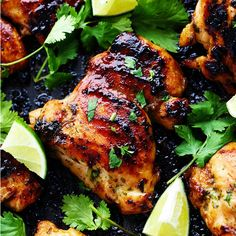 Perfectly grilled tender and juicy chicken marinated in a honey lime cilantro marinade. The flavor of this chicken is incredible! Honey + Lime + Cilantro = one of my favorite flavor combinations. Something about the sweet honey and tangy lime plus the cilantro infuses this chicken with such amazing flavor.  I love cilantro! It …