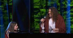"""Weird Al Yankovic and Jodi DiPiazza, who was diagnosed with autism at age 2, perform his song, """"Yoda""""."""