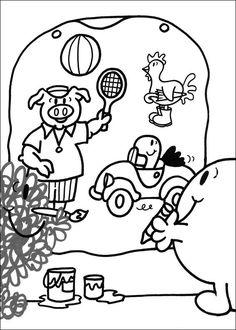 Mr. Men Tegninger til Farvelægning. Printbare Farvelægning for børn. Tegninger til udskriv og farve nº 3