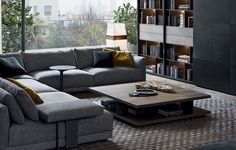 Available in two sizes, the Bristol coffee table designed by Jean-Marie Massaud perfectly completes the Bristol System collection. Living Room Interior, Living Room Decor, Living Rooms, Decor Interior Design, Furniture Design, Bristol, Living Room Scandinavian, Living Room Sectional, Living Room Designs