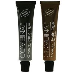 Combinal Cream Hair Dye Set Black  Brown 5 oz each * More info could be found at the image url.