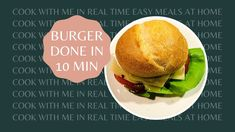 Cook with me quick and easy Burger in Real time within 15 minutes Cooking Box, Burger Recipes, Home Recipes, Easy Meals, Make It Yourself, Ethnic Recipes, Music, Food, Musica