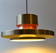 Danish Mod 1960s Space Age Aluminum Retro Eames Pendant Lamp/Light