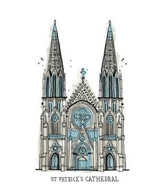 1: St. Patricks Cathedral | An Artist Attempts To Draw All The Buildings In New York | Co.Design: business + innovation + design