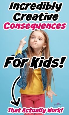 These creative consequences for kids from Pint-sized Treasures are SUPER effective! Are you having trouble with bad behavior in your children? These creative consequences are highly effective for toddlers, preschoolers, kids, and teens! This will help parents and kids see the importance of rules and boundaries in the parenting journey! This is expert mom advice that really works! All Family, Mom Advice, Parenting Hacks, Behavior, Children, Kids, Preschool, Told You So, Teen