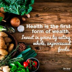 Healthy Living Tips Eat whole, unprocessed foods. - The HEALING FOODS diet by Dr. Axe is not a diet it is a weapon to get triumph over chronic diseases. The diet targets five aspects of your health. Nutrition Education, Nutrition Day, Nutrition Quotes, Nutrition Guide, Holistic Nutrition, Nutrition Poster, Vegan Nutrition, Health Diet, Health And Wellness