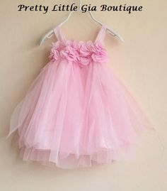 Gorgeous Pink Baby Girl Party Dress Flower Girl 12 24 M 2T 3T 4T 5T 6Y | eBay