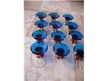 Blue Glass Knobs, Knobs And Pulls, Door Knobs, Marble, Blue, Granite, Marbles, Door Handles, Knob
