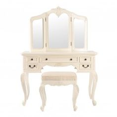 Rococo Parisienne Cream Dressing Table
