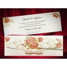 Invitatie Eleganta Red Roses