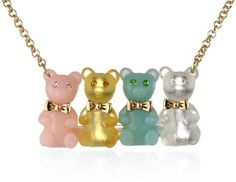 "Betsey Johnson ""Candy Land"" Gummy Bear Necklace: Jewelry: Amazon.com"