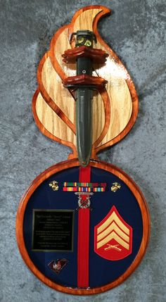 USMC plaque Questions on design or price contact Lunawood1775@gmail.com Usmc Ring, American History, American Flag, Military Shadow Box, Once A Marine, Semper Fidelis, Military Gifts, Motto, Ornaments