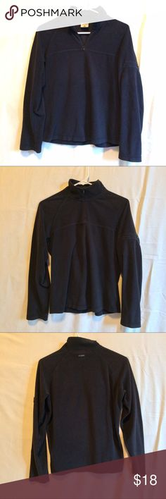 Columbia Half Zip Pullover Sweater Columbia Half Zip Sweater. Great condition, still soft! Features a small zip pocket on the left arm. 100% Polyester Columbia Sweaters