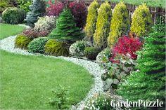Kompletny brak pomysłu - strona 4 - Forum ogrodnicze - Ogrodowisko Front Yard Garden Design, Hillside Landscaping, Modern Garden Design, Small Garden Design, Conifers Garden, Landscape Design, Landscaping Along Fence, Outdoor Gardens, Garden Projects