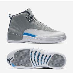 "SHOP: Nike Air Jordan 12 Retro ""University Blue / Wolf Grey"" | kickbackzny.com"