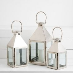 Serge Polished Lantern by Provincial Home Living