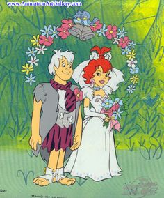 Pebbles and Bamm-Bamm Get Married