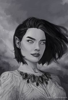Court of thorns and roses fan art goodreads untitled a court of A Court Of Wings And Ruin, A Court Of Mist And Fury, Feyre And Rhysand, Sarah J Maas Books, Throne Of Glass Series, Fan Art, Character Portraits, Fantasy Portraits, Book Characters