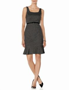 Belted Marled Ponte Dress from THELIMITED.com