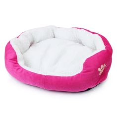 LYQ Paw Print Comfortable Warm Pet Dogs Cats Puppy Kitten Nest Pad Soft Fleece Bed 2 sizes -- Wow! I love this. Check it out now! : dog beds