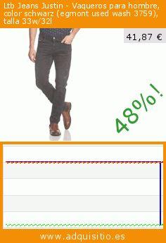 Ltb Jeans Justin - Vaqueros para hombre, color schwarz (egmont used wash 3759), talla 33w/32l (Ropa). Baja 48%! Precio actual 41,87 €, el precio anterior fue de 79,95 €. https://www.adquisitio.es/ltb-jeans/justin-vaqueros-hombre-10