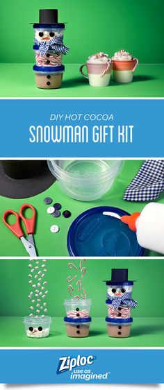 Ziploc® | DIY Hot Cocoa Snowman Gift Kit | SC Johnson
