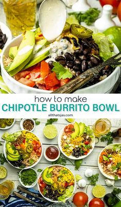 Skip the takeaway and try this homemade chipotle burrito bowl instead! Layered with rice, ground beef, beans, corn, fresh veggies, and cheese, this quick and easy burrito bowl recipe is easily customized. | allthatsjas.com | #homemade #diy #burritobowl #quickandeasy #recipes #chipotle #qdoba #healthy #best #Mexican #allthatsjas #simple #groundbeef #chipotlesauce #lowcarb #mealprep Healthy Ground Beef, Ground Beef Recipes Easy, Beef Recipes For Dinner, Mexican Food Recipes, Ethnic Recipes, Holiday Recipes, Chipotle Burrito Bowl, Qdoba Burrito Bowl Recipe, Homemade Chipotle