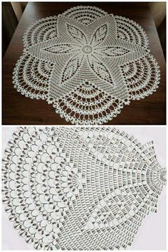 This Beautiful Big White Doily This Pin was discovered by lah Crochet And Knitting Well-designed pineapple lace doily from Magic Crochet magazine Free Crochet Doily Patterns, Crochet Doily Diagram, Crochet Motifs, Crochet Mandala, Thread Crochet, Crochet Flowers, Crochet Carpet, Crochet Home, Diy Crochet