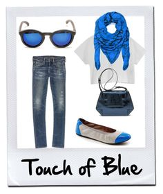 """""""Touch of Blue"""" by thenandnowshop on Polyvore"""
