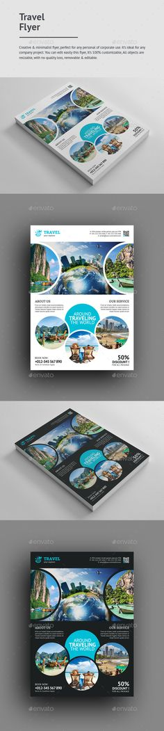 Travel Flyer — Photoshop PSD #simple #products • Download ➝ https://graphicriver.net/item/travel-flyer/19761696?ref=pxcr