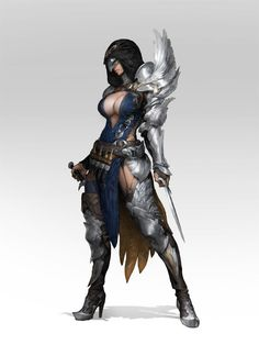 Female assassin by JerryJ