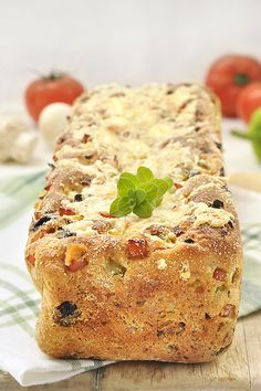 Bread with pizza flavor without kneading / No knead pizza bread Knead Pizza, Pizza Flavors, Healthy Chicken, Starters, Allrecipes, Risotto, Banana Bread, Sandwiches, Food And Drink