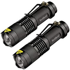 Rockbirds LED Flashlight, A100 Mini Super Bright 3 Mode Tactical Flashlight, Best Tools for Hiking, Hunting, Fishing and Camping (2 Pack)