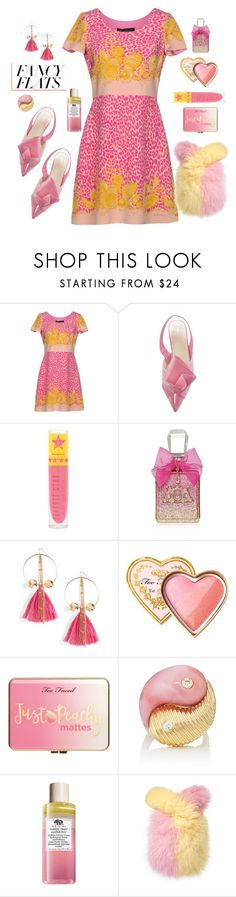 """Origami Flats"" by friendliness-matters ❤ liked on Polyvore featuring Versace, Jeffree Star, Juicy Couture, Ettika, Too Faced Cosmetics, Just Peachy, Retrouvai and chicflats"