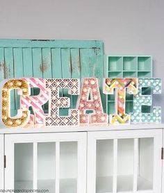 How to Make Marquee Letters DIY Projects Craft Ideas & How To's for Home Decor with Videos Crafts For Girls, Hobbies And Crafts, Fun Crafts, Diy Furniture Projects, Cool Diy Projects, Project Ideas, Diy Marquee Letters, Diy Karton, Carton Diy
