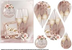 A toast to the newlyweds teardrop pyramid on Craftsuprint designed by Carol Smith - a teardrop pyramid sheet for the newlyweds, has two beautiful champagne glasses with a framed picture of two love swans trimmed with a single rose, co-ordinating tag trimmed with rose spray says the newlyweds also a blank tag for the greeting of your choice thank you for looking please take a peek at my other items - Now available for download!
