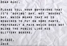 """""""Boxing"""" or """"Boxers"""" Day?"""