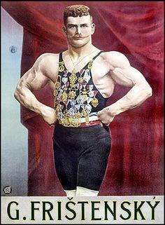 Vintage Sideshow Strongman Poster