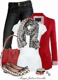 This but without the scarf. This is almost perfect. I'm not super fond the the bag (I prefer crossbody) but It's not bad.