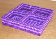Perler bead Organizer tray. I particularly like that this can be made to custom fit items.