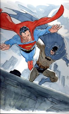 World's Finest by Bo Hampton #Superman #Batman