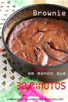 Brownie em menos que 30 minutos – Sem farinha, sem açúcar!   Mais gordura, menos carboidratos!