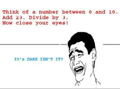 Think of a number... :P