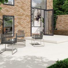 Nexus White 2CM – Porcelain Superstore Patio Slabs, Patio Tiles, Outdoor Tiles, Outdoor Flooring, Outdoor Areas, Outdoor Decor, Large Floor Tiles, Tile Floor, Stonehenge