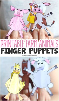 Printable Farm Animals Finger Puppets Fun Paper Craft for Kids