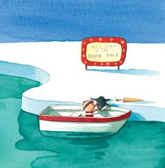 OLIVER JEFFERS - LOST AND FOUND - WELCOME TO THE SOUTH POLE