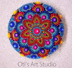 Mandala Stone MULTICOLOR-Hand Painted