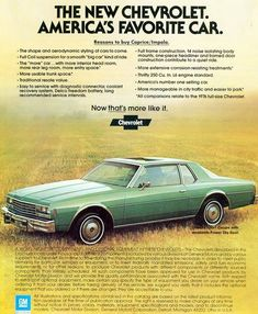 1978 Chevrolet Caprice coupe ad | CLASSIC CARS TODAY ONLINE