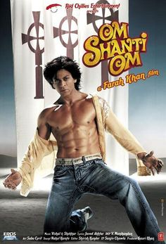 In this modern remake of Karz, Om - an aspiring actor from the - is murdered, but is immediately reincarnated into the present day. He attempts to discover the mystery of his demise and find Shanti, the love of his previous life. Om Shanti Om, Best Bollywood Movies, Sr K, Hrithik Roshan, Handsome Actors, A Star Is Born, Shahrukh Khan, Hindi Movies, Bollywood Stars