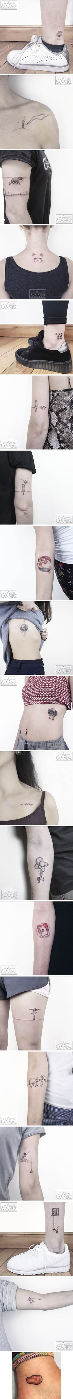 Former Cartoonist Creates Cute Animal Tattoos To Show You A Life On The Wild Side - 9GAG